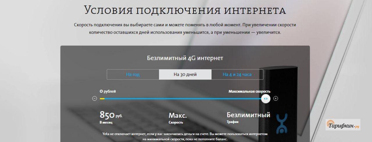 Тарифные планы Йота в Твери и Тверской области