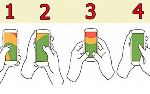 То, как вы держите телефон, отражают нашу личность