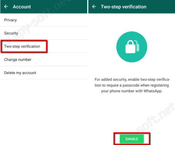 Двухфакторная аутентификация WhatsApp