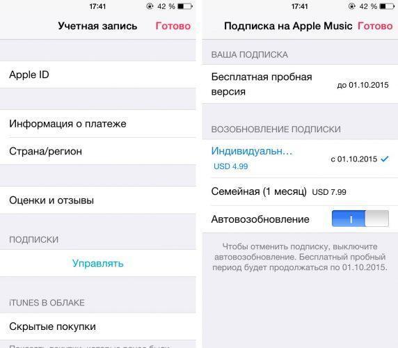 Как отменить подписку на iPhone