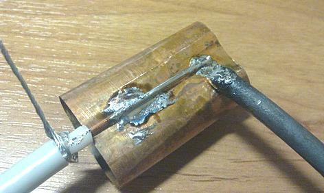 Лужение кабеля