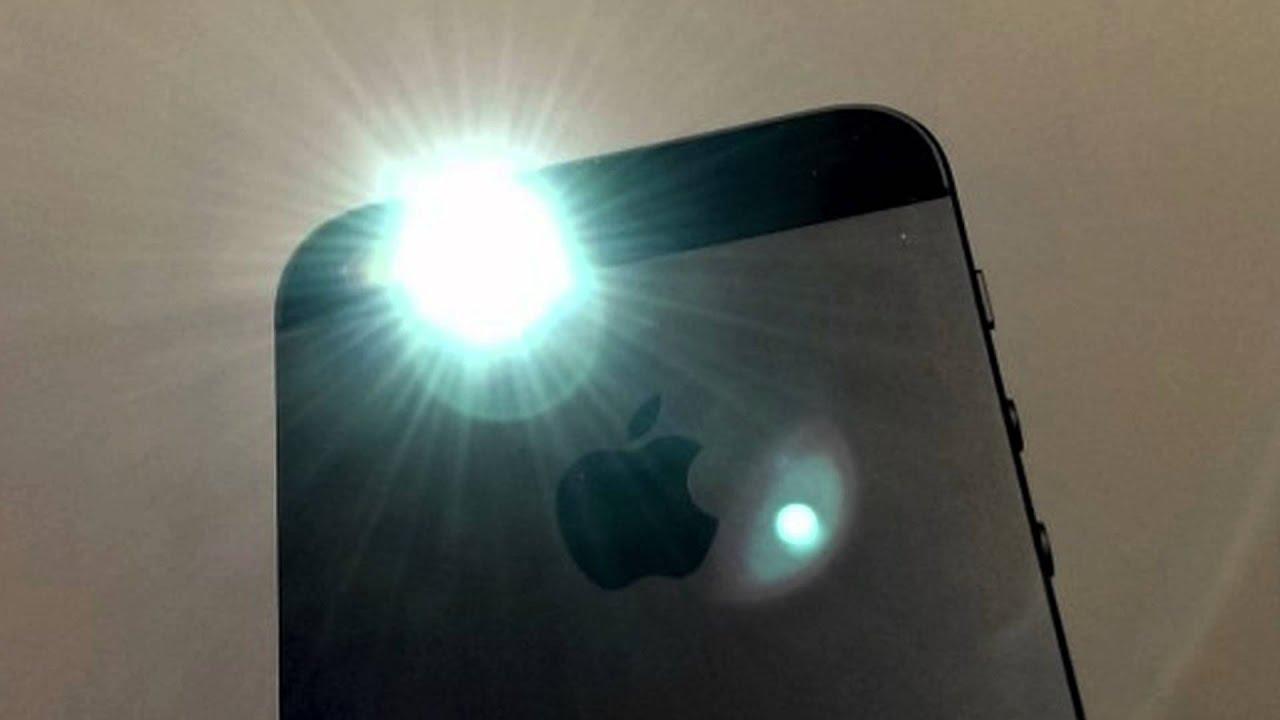 Где фонарик на Айфоне и как его включить