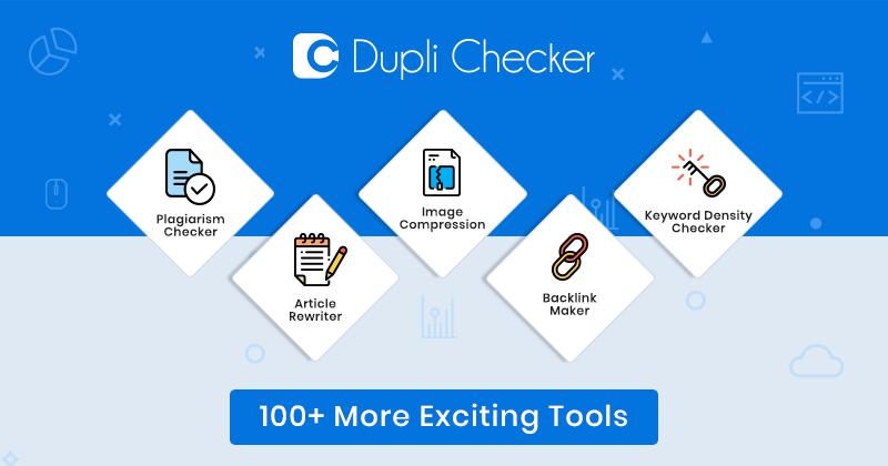 Plagiarism Checker | 100% Free and Accurate - Duplichecker.com