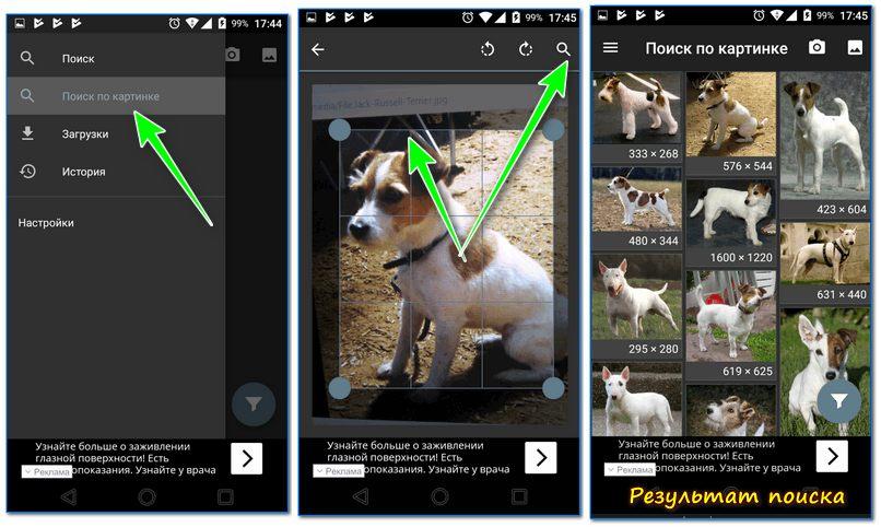 Поиск по картинке с телефона Андроид: ищем похожие картинки и название того, что изображено