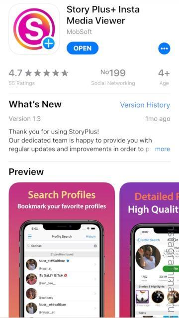 приложение для айфон и андроид для просмотра Сторис Инстаграм анонимно