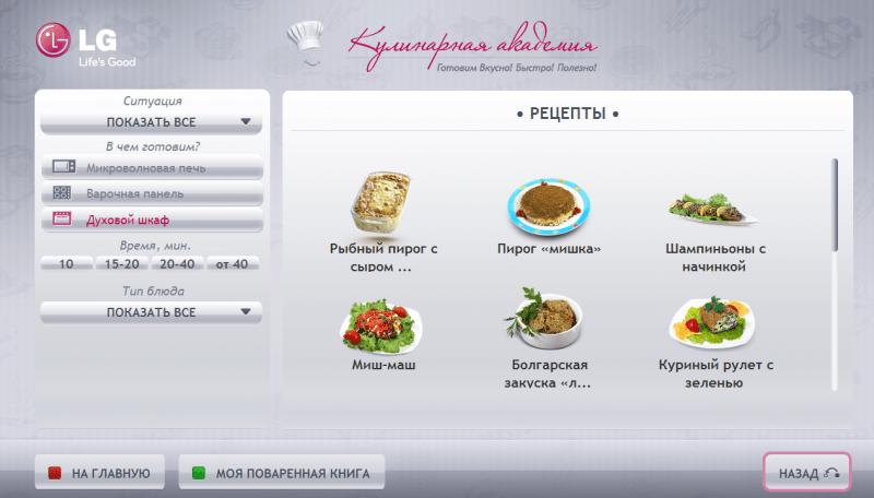 Топ приложений для СМАРТ ТВ - кулинарная академия на смарт тв