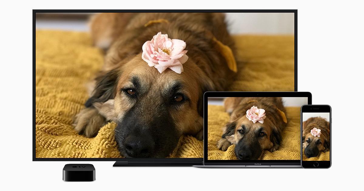 Трансляция видео и дублирование экрана устройства через AirPlay ...
