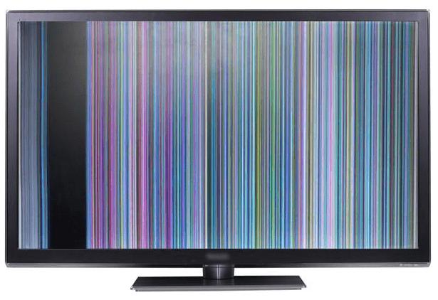 Белая полоса на экране телевизора